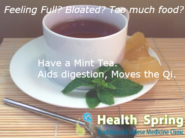 Have a Mint Tea. Aids Digestion, Moves the Qi!